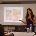 Michelle Gellis teaching facial acupuncture